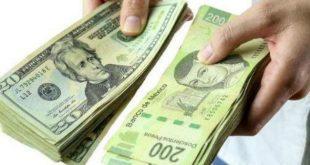 El dólar cotiza en 19.20 centavos por dólar spot, esto tras la publicación de datos sobre la inflación en EU.