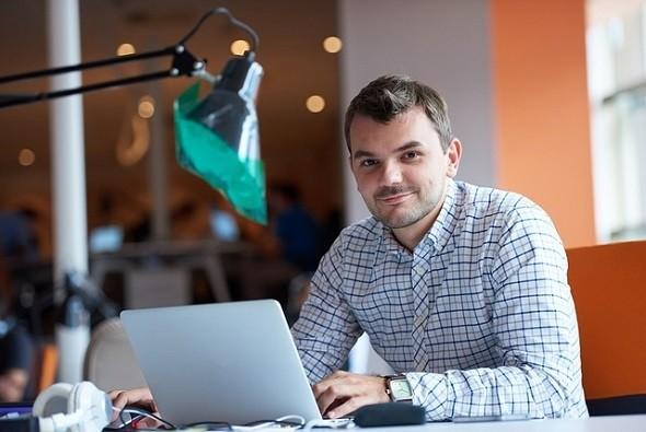 emprendedor, emprendedores, hombre, negocio, planeación, computadora