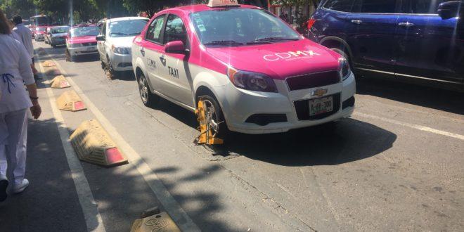CDMX, transporte público, araña, taxi