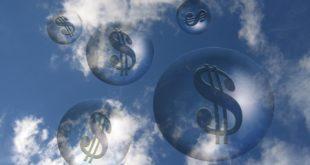 nubes, burbuja, dinero, crisis