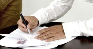 firma, contrato, papel, documento, contratación, seguro, pymes