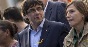 Manifestación contra la supresión de la autonomia en Cataluña