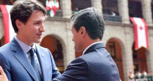 Enrique Peña y Justin Trudeau conversan sobre TLCAN y aranceles de EU