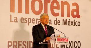 Se registra AMLO como precandidato de Morena a la Presidencia