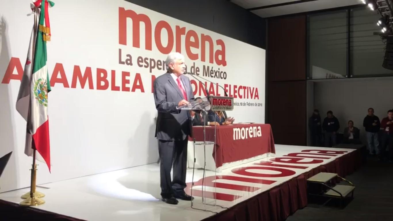 AMLO, ratificado como candidato presidencial de Morena