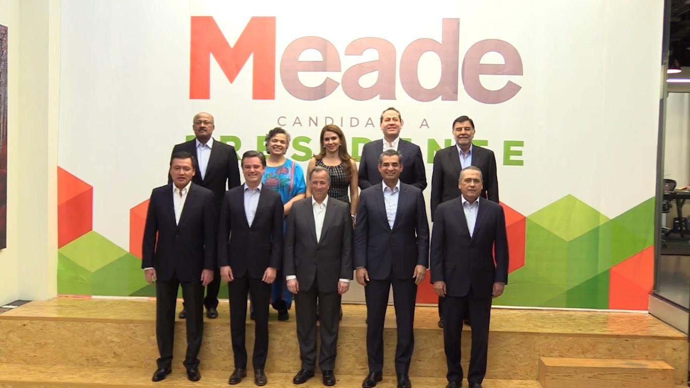 Van Osorio, Beltrones y Paredes a campaña de Meade
