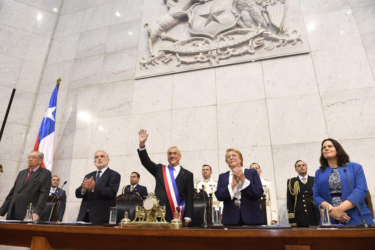 Sebastián Piñera asume su segundo mandato en Chile