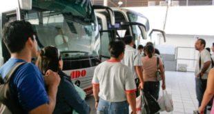 Turistas mexicanos viajaron más en autobús en 2017