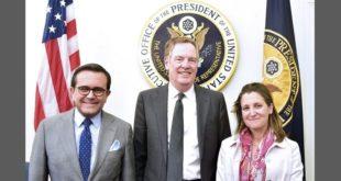 Ministros acuerdan extender pláticas sobre el TLCAN hasta mayo