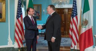 Dialogan Videgaray y Pompeo sobre relación comercial entre México y EU, coronavirus