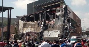 Se derrumba la nueva plaza Artz Pedregal, en la CDMX