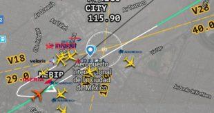 Avión de Iberia aterriza de emergencia en el AICM