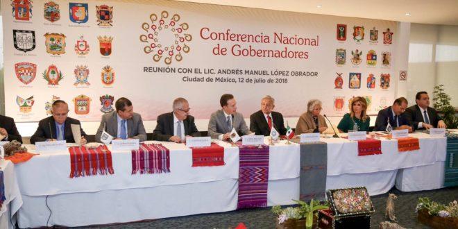 AMLO: se acordó con Conago trabajar por el bien de México