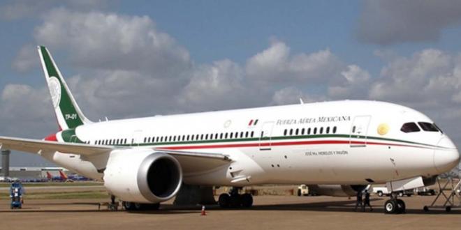 Ofrecen avión presidencial al gobierno de EU