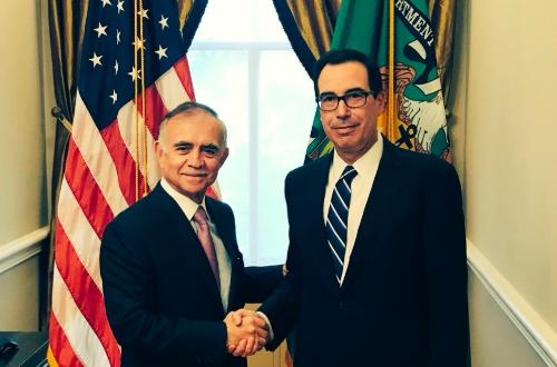 Alfonso Romo se reúne con Steven Mnuchin en Washington