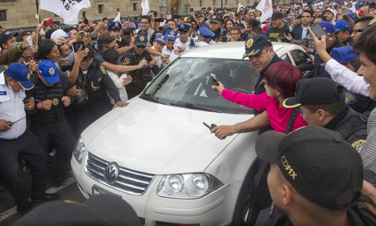 López Obrador ya se encuentra en Palacio Nacional