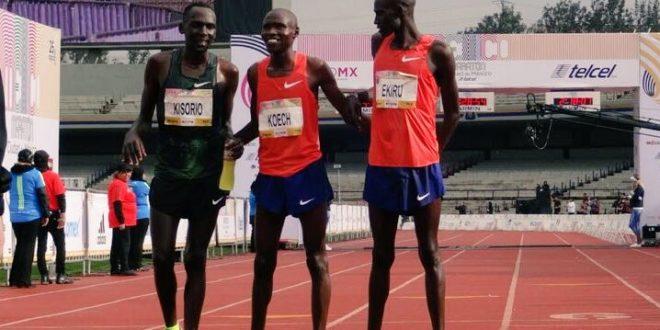 Kenia hace el 1,2 y 3 en el Maratón de la CDMX