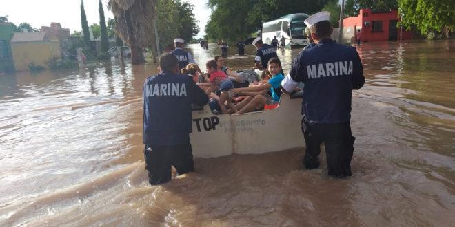 Evalúa gobierno zonas afectadas por lluvia en Sinaloa