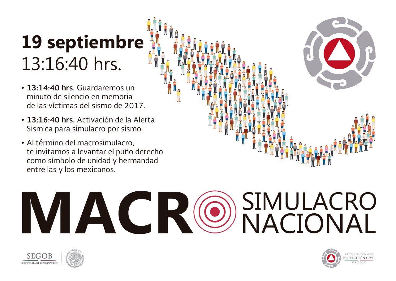 Participará Sismológico en Macrosimulacro del 19 de septiembre
