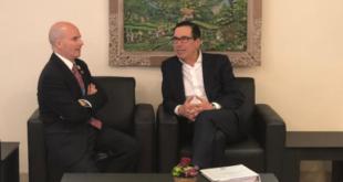 González Anaya charla con Steven Mnuchin sobre el USMCA