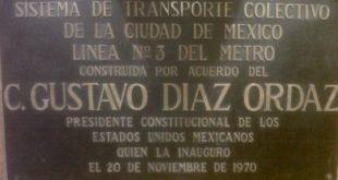 """Borran"" el nombre de Díaz Ordaz del Metro, en la víspera del 2 de octubre"