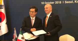 Acuerdan México y Corea del Sur combatir el proteccionismo