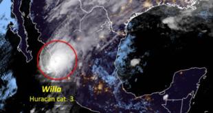 Huracán Willa toca tierra en Sinaloa como categoría 3