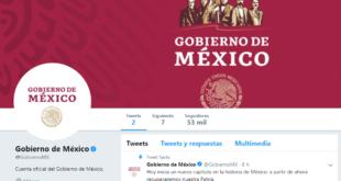 Gobierno de López Obrador estrena cuenta oficial de Twitter