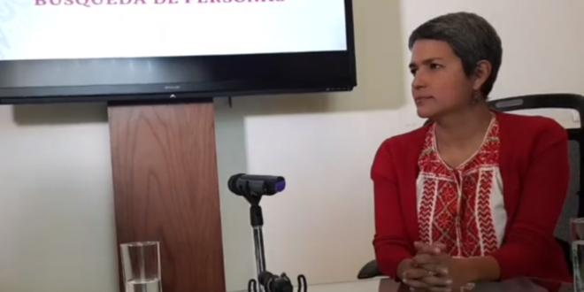 Karla Quintana, titular de la Comisión Nacional de Búsqueda de Personas