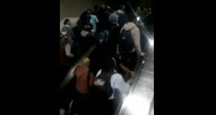 Falla mecánica en escaleras eléctricas del Metro deja dos heridos