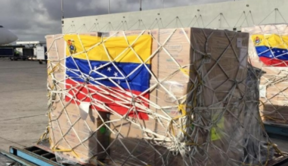 Entra primer cargamento de ayuda humanitaria a Venezuela
