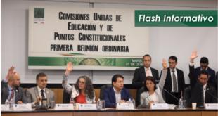 Diputados avalan en comisiones el dictamen de reforma educativa