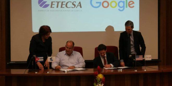 Firma Cuba acuerdo con Google para mejorar acceso a Internet