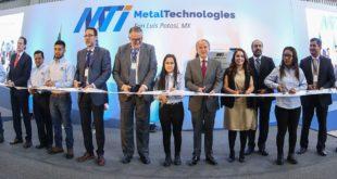 Inauguran planta metalúrgica en SLP con inversión de mil 300 mdp