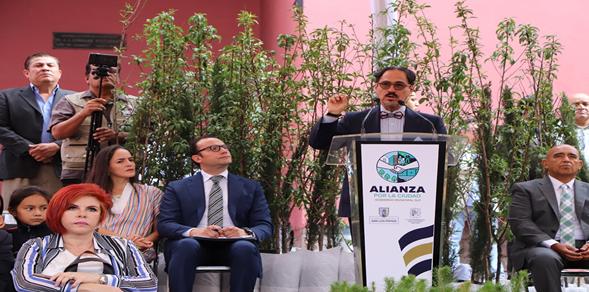 Autoridades municipales de SLP presentan la Alianza por la Ciudad