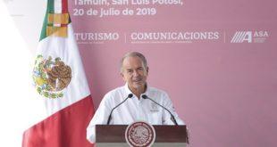 Gobierno SLP aportará terrenos para ampliar aeropuerto de Tamuín