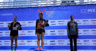 Mayra Sánchez triunfa en el medio maratón de la CDMX