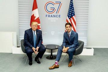 Trump y Trudeau subrayan importancia del TMEC en Cumbre del G7