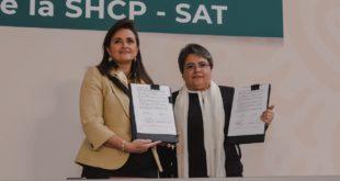 Firman SAT y Oficialía Mayor convenio para erradicar 'moches' en licitaciones públicas