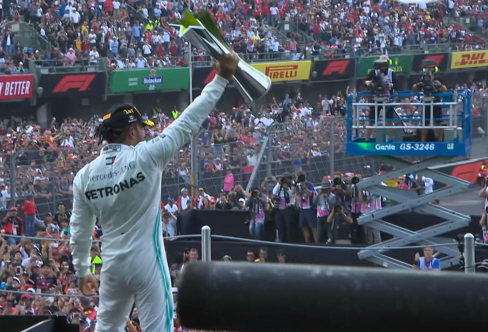 Lewis Hamilton se lleva el Gran Premio de México 2019