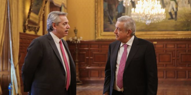 Se reúne AMLO con Alberto Fernández, presidente electo de Argentina