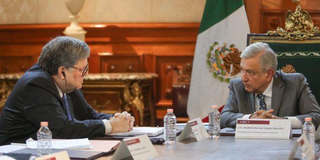 AMLO celebra 'buena reunión' con fiscal general de EU
