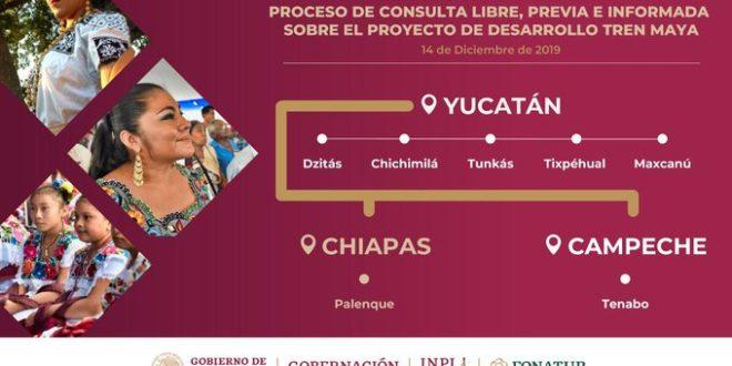 Gobierno realiza asambleas consultivas sobre Tren Maya