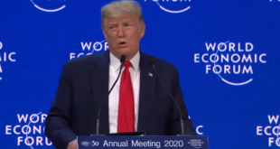 """Trump presume el T-MEC en Davos; """"es un modelo a seguir"""", dijo"""