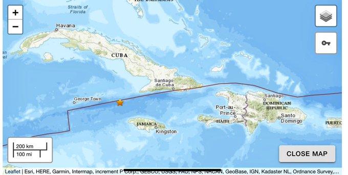Emite USGS alerta de tsunami para Jamaica por sismo de magnitud 7.7