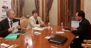 Arturo Herrera se reúne con directora del FMI