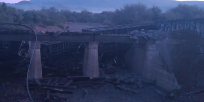 Fallece una persona en descarrilamiento de tren en Sonora