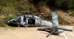 Cae helicóptero de la Semar en Veracruz; muere un policía estatal