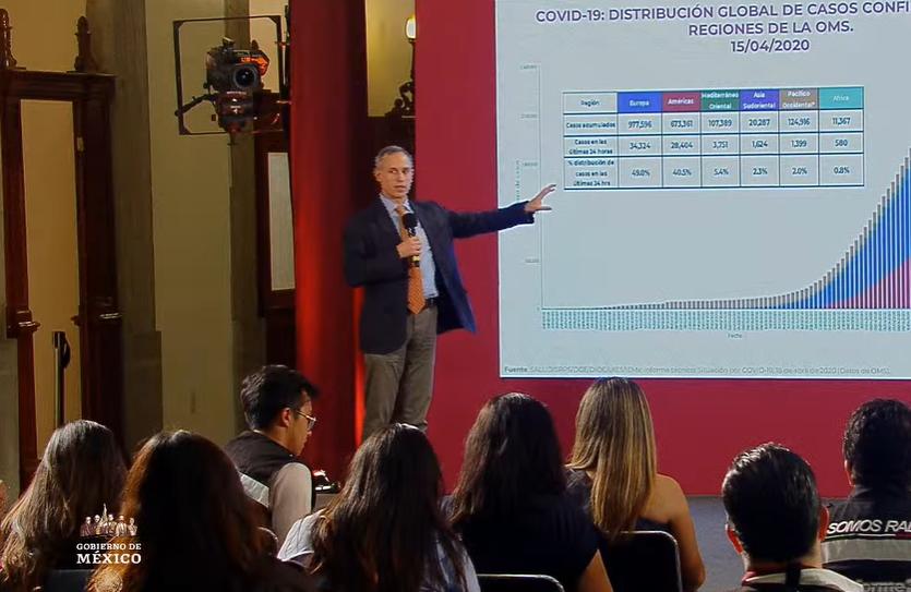 México registra 449 muertes por coronavirus; casos confirmados suben a 5,847, conferencia