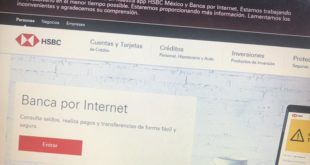 HSBC reporta fallas en su banca por internet y aplicación digital